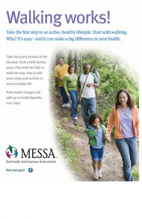 Walking wellness poster PDF