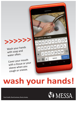 Wash your hands poster PDF