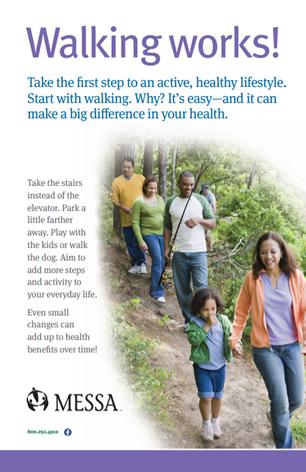 Walking wellness poster PDF